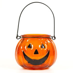 Halloween Orange T-Light Holder