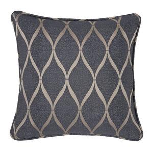 Deco Ogee Cushion 45 x 45cm - Charcoal