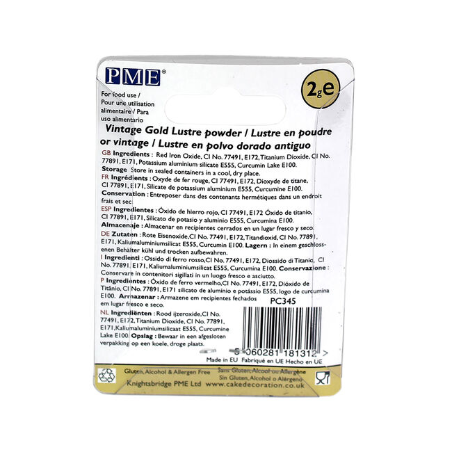 PME Vintage Gold Lustre Powder 2g