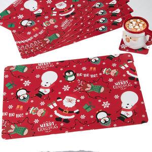 Festive Friends Mats & Coasters - 6 pack