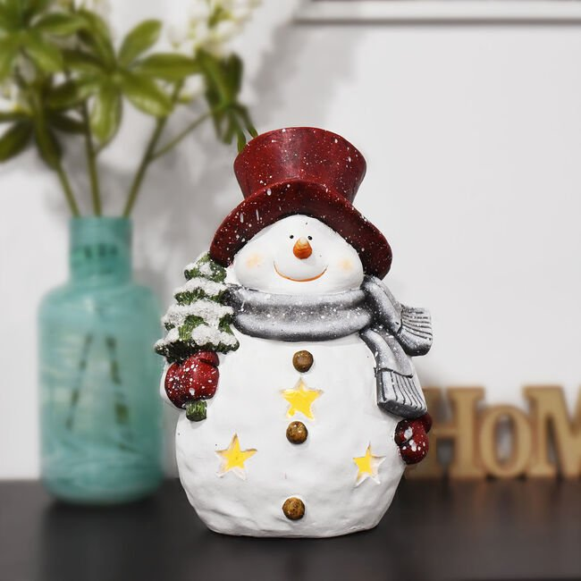 Lightup Snowman With Tree