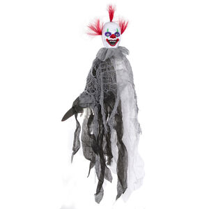 Hanging Animated Clown With Knife