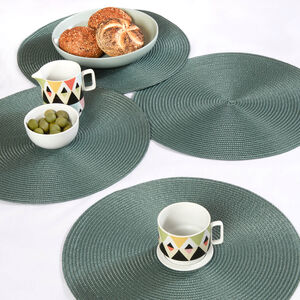 Round Woven Placemat - Sage