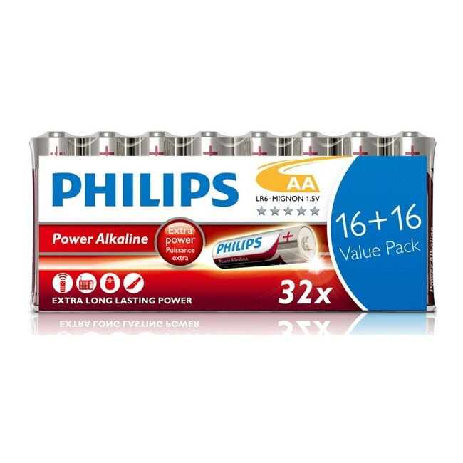 Philips Value Pack of 32 AA Batteries