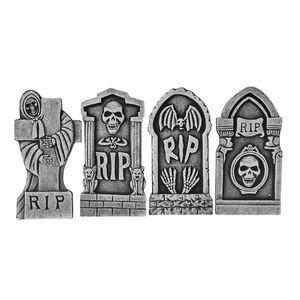 Halloween Tombstones - Set of 4