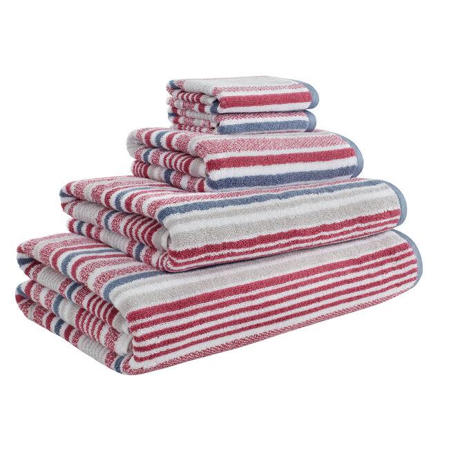 500GSM MCMARTIN STRIPE RASPBERRY Hand Towel