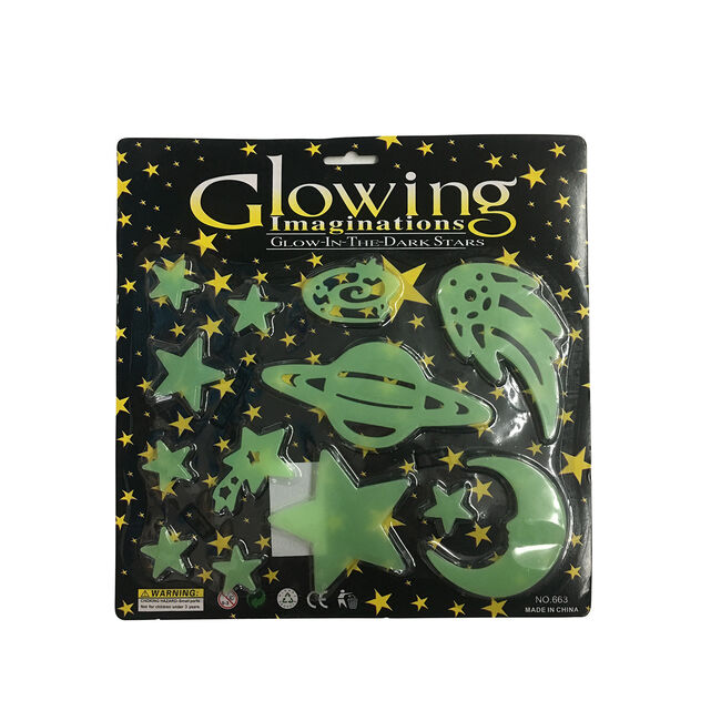Glow in the Dark Galaxy Stick-ons
