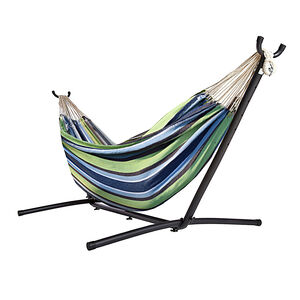 Deluxe Hammock with Stand - Blue