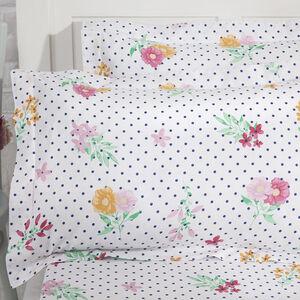 Draped Floral Oxford Pillowcase Pair