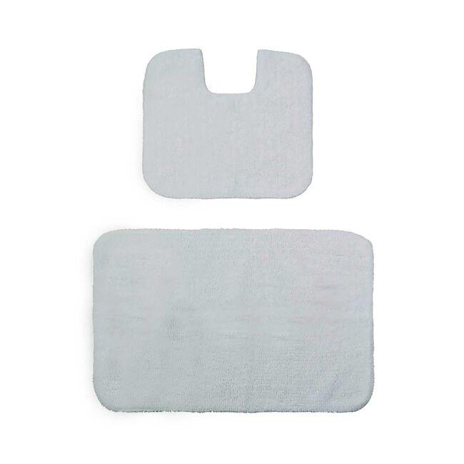 Cotton Plain Dye White Bathroom Set