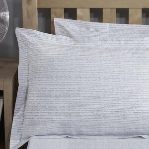 Brickwork Grey Oxford Pillowcase Pair