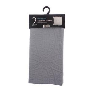Parisienne Grey Cushion Covers 2pk