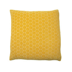 Honeycomb Cushion 45x45cm - Mustard