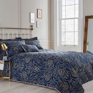 Antoinette Navy Bedspread 200cm x 220cm