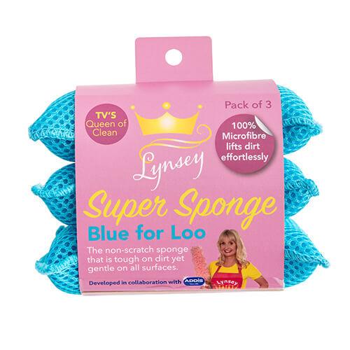 LQOC Super Sponge 3 Pack - Blue