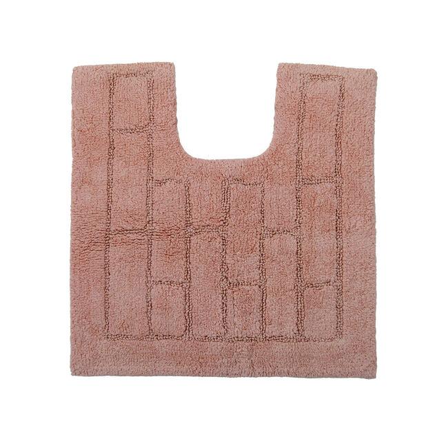 Cotton Brick Peach Pedestal Mat 50x50