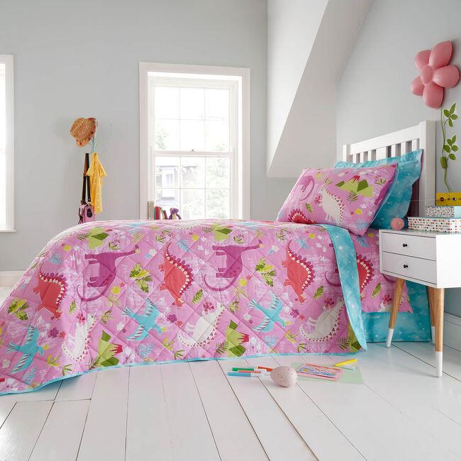 Fabausauras Bedspread 200 x 220cm - Pink