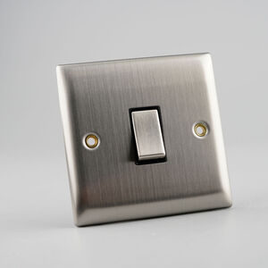 1 Gang 2 Way Switch Plate - Stainless Steel