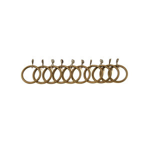 Metal Rings Antique Brass 10 Pack