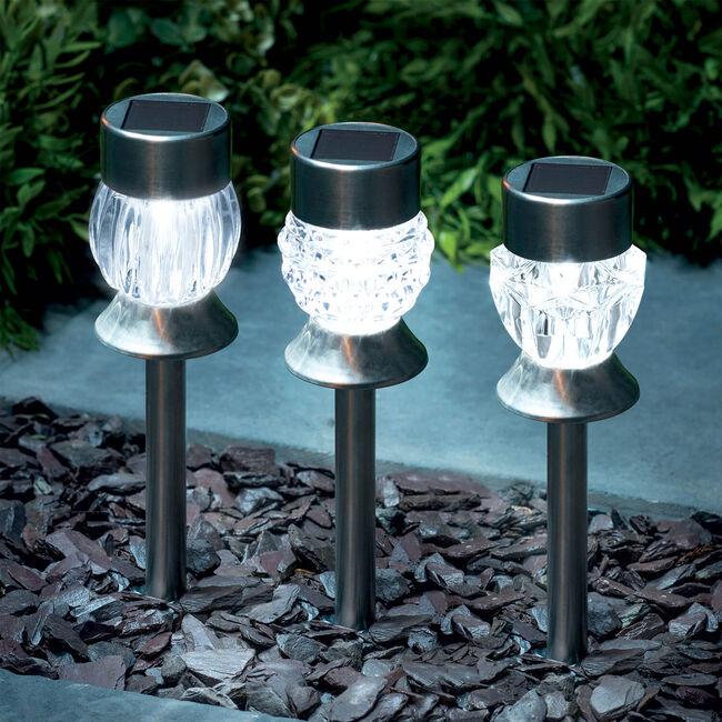 Crystal Acrylic S/S Solar Stake Light