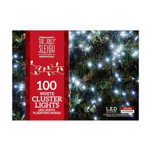 100 bright White LED Cluster Lights