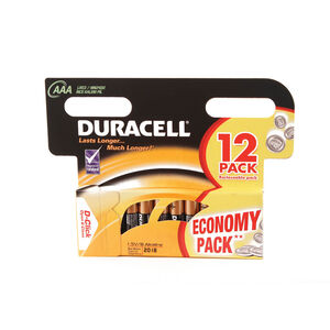 Duracell Basic AAA Batteries 12 Pack