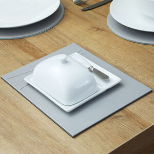 ABNEY & CROFT White Butter Dish with Knife