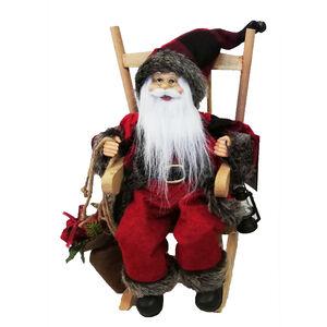 Woodland Santa in Rocking Chair 30cm