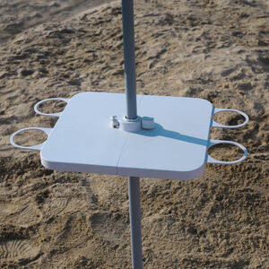 Beach Umbrella Table with Cupholders