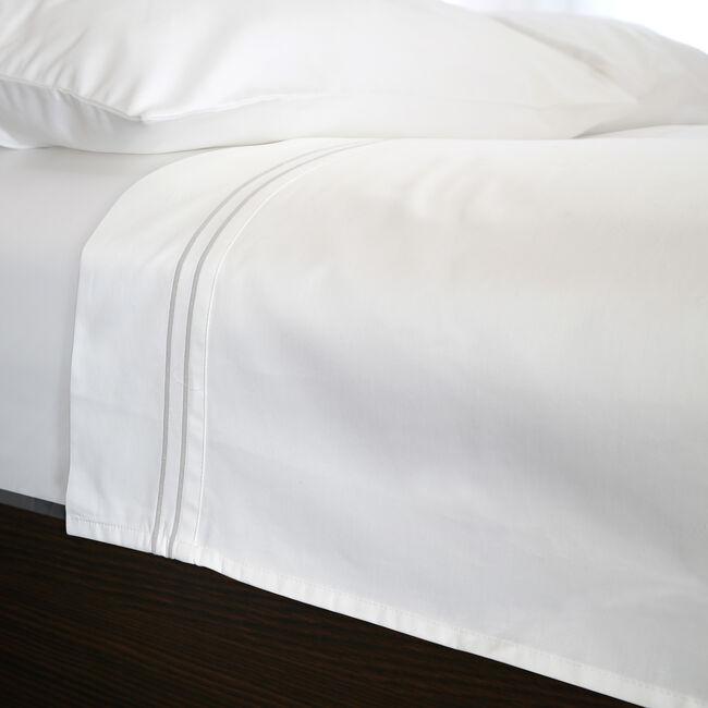 DB FLT/SHT DB Stitch 500 Threadcount Cotton White