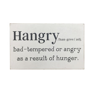 Hangry Definition Print