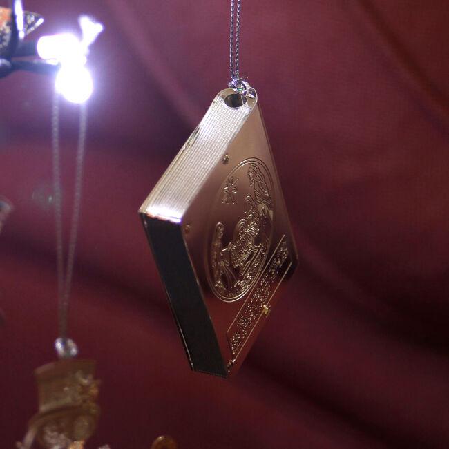 Silver Nativity Book Decoration 3D