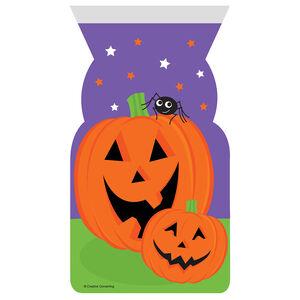Halloween Pumpkin 12 ZIP Close Cello Bags