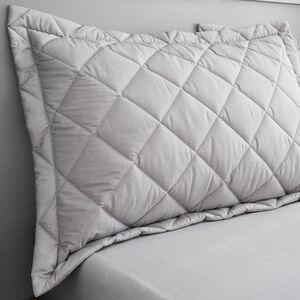 Oxford Herringbone Grey Pillowsham 50cm x 70cm