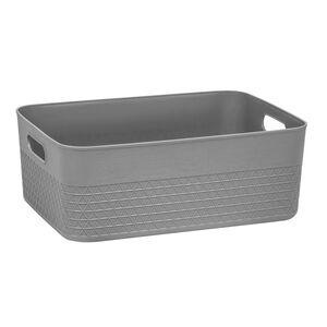 Waffle 11L Storage Container w/o Lid Soft Grey