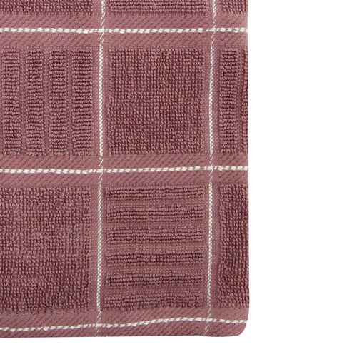 Check Kitchen Tea Towel 2 Pack - Heather
