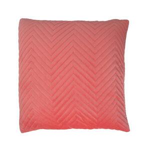 Triangle Stitch Cushion 45x45cm - Coral
