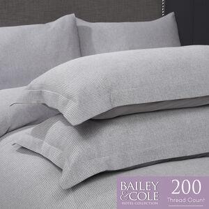 Honeycomb 200TC Oxford Pillowcase Pair - Grey