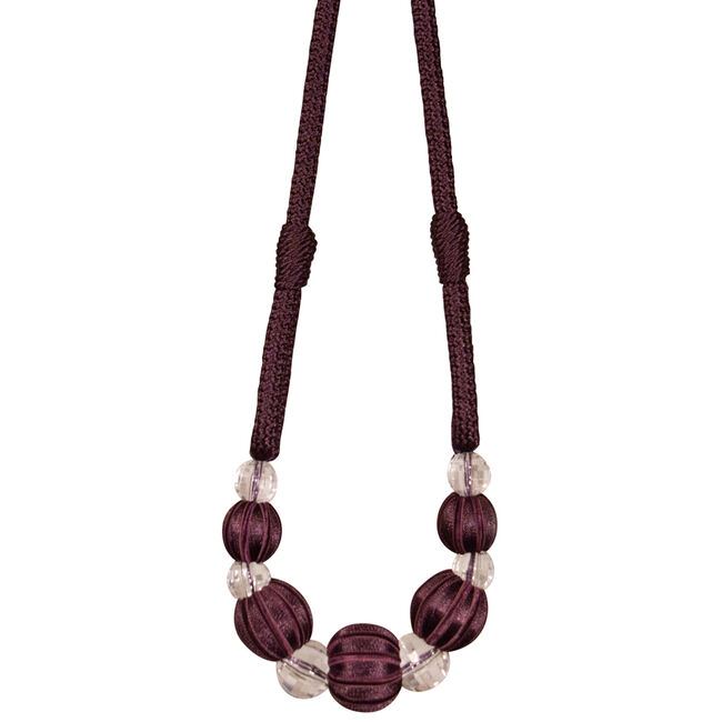 Paris Cable Ball Aubergine Tieback