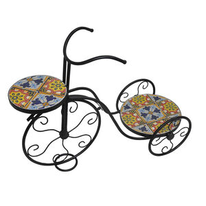 Mosaic Bicycle Plant Stand
