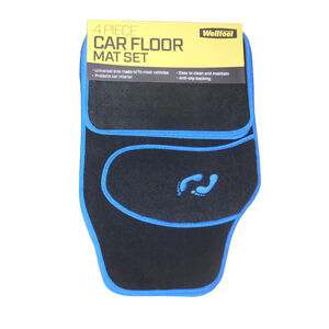 Car Floor Mat 4 Piece Blue