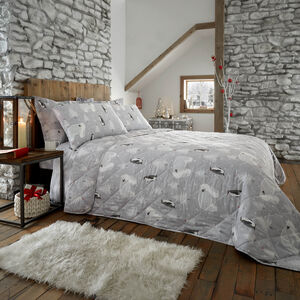 Arctic Friends Bedspread 200 x 220cm - Grey