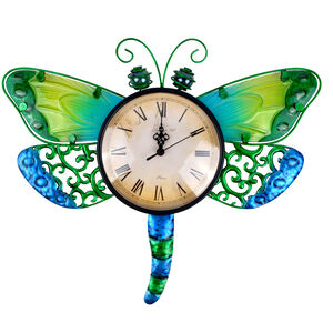 Dragonfly Glass Clock