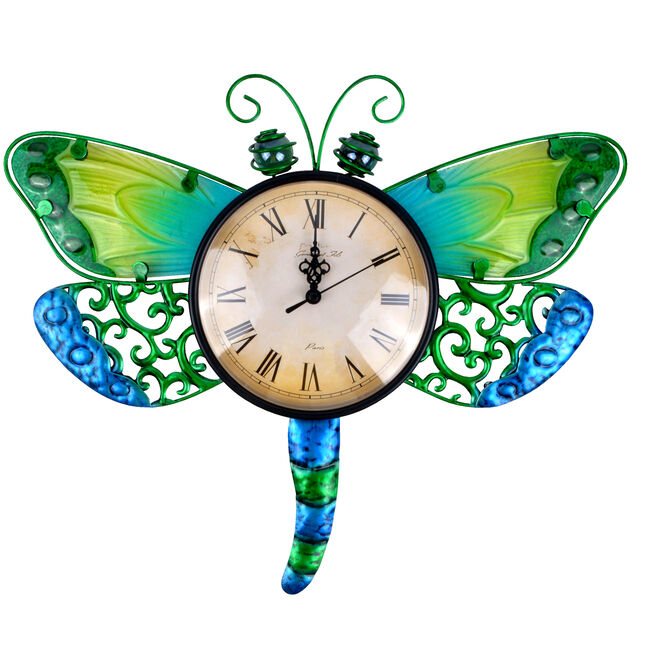 Dragonfly Glass Clock