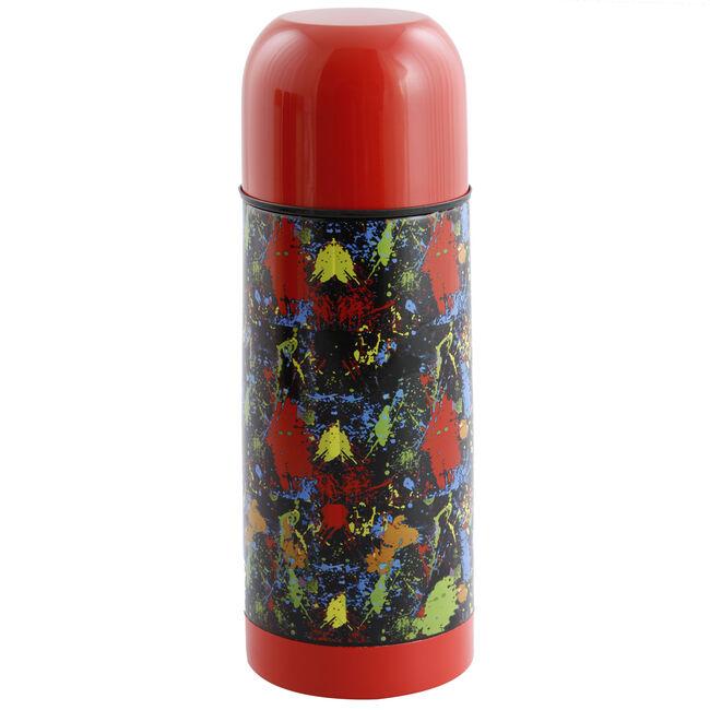 Jelly Childrens Splatter Red Vacuum Flask 035L