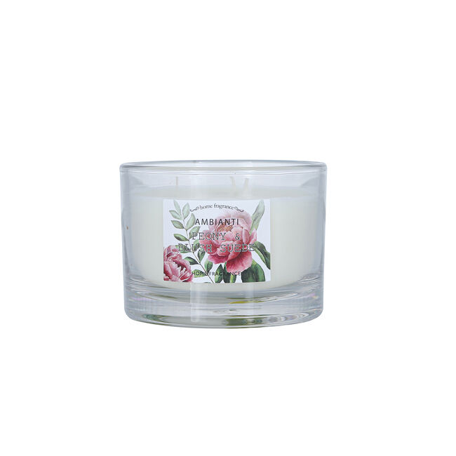 Ambianti Peony & Blush Suede 3 Wick Scented Candle