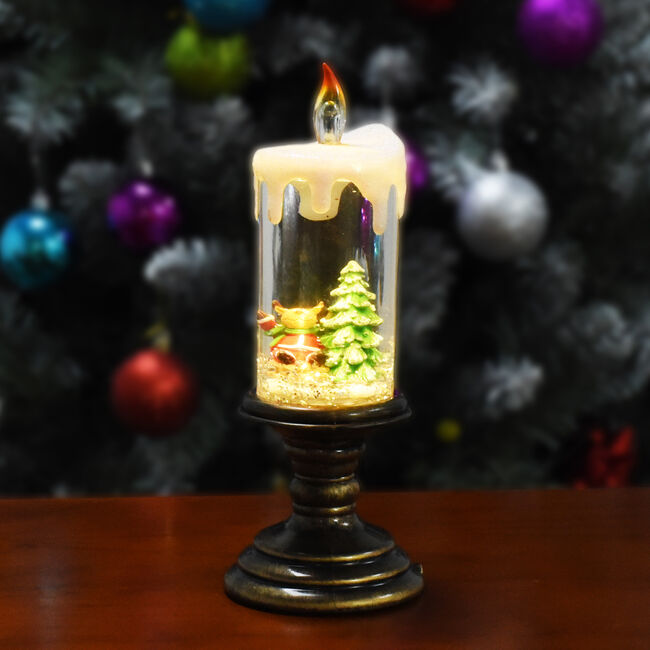 Swirling Glitter Christmas Candle