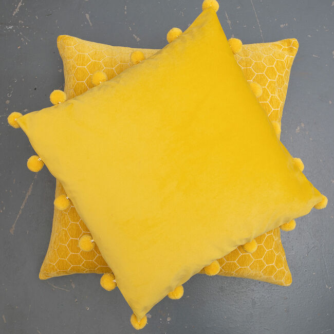 Large Bobble Cushion 45x45cm - Mustard