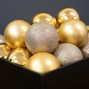 Gold Bauble Set - 20 Pack