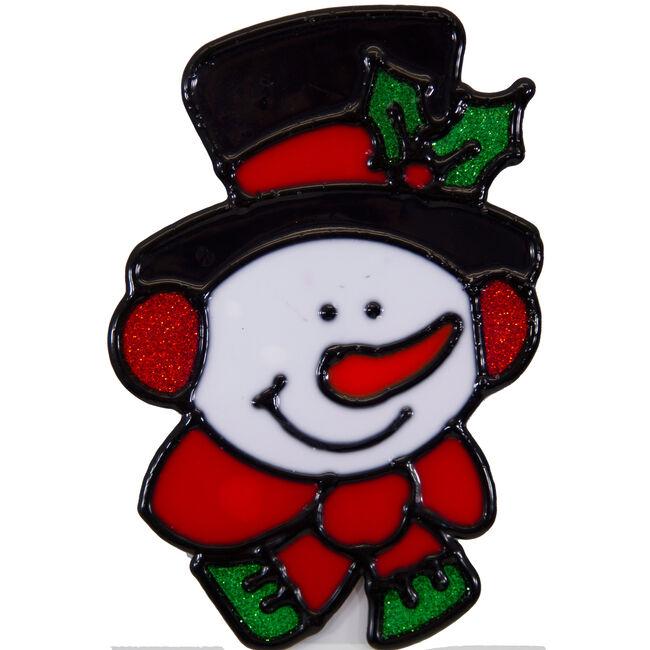 Merry Christmas Window Sticker Snowman